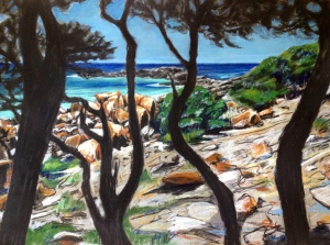 Bunker Bay III, Charcoal & Pastel on paper, 76x56cm $800