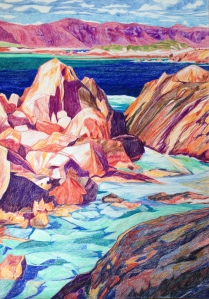 Madfish Bay, Denmark, Coloured Pencil on paper, 60x42cm $800