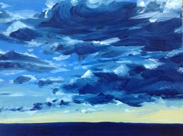 Infinite Series I.i, W, South Beach, Fremantle, Oil on Board 23x17cm Sold
