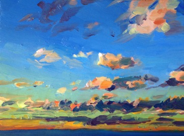 Infinite Series III, West, South Beach, Fremantle, Oil on Board 23x17cm Sold