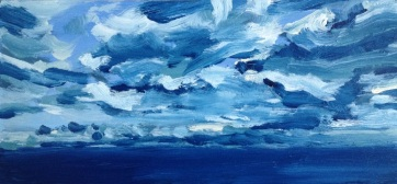 South West, South Beach, Oil on Board, 30x14cm $300