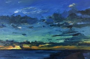 And the night comes on (I) West, South Beach Harvey Mullen Oil on Board $550 framed