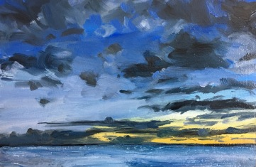 And the night comes on (III) West, South Beach Harvey Mullen Oil on Board $550 framed