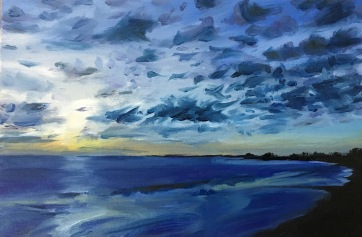 And the night comes on (VI) West North West, South Beach Harvey Mullen Oil on Board $550 framed