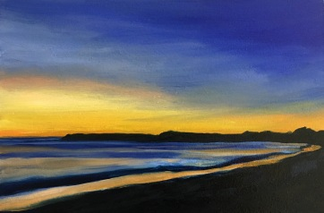 And the night comes on (VII) North West, South Beach Harvey Mullen Oil on Board $550 framed